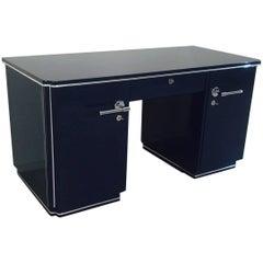 Blue Art Deco Desk