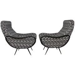 Italian Style Club Chairs Mid-Century Modern