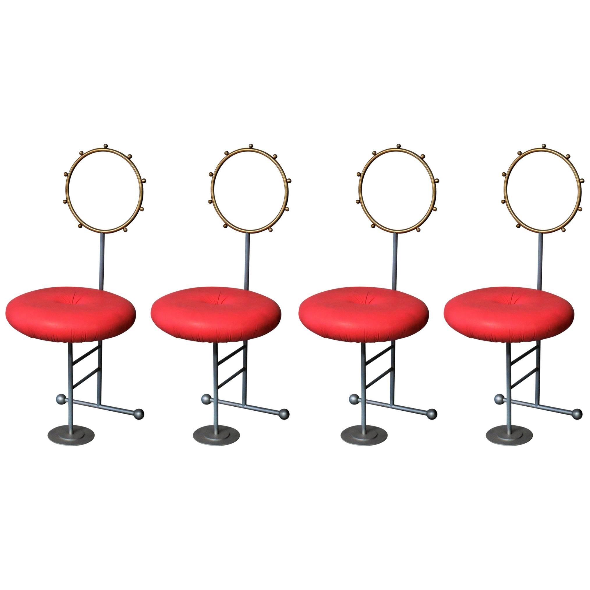 Luigi Serafini Santa Chairs For Sawaya And Moroni, Set Of Four 1
