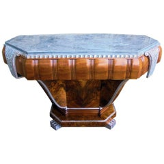 High Style Art Deco English Console Table, circa 1932