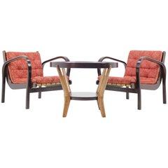 Set of Two Armchairs and Coffee Table by Karel Kozelka and Antonín Kropáček