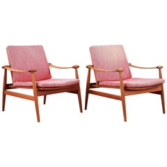 Early Lounge Chairs Designed by Finn Juhl for France & Son