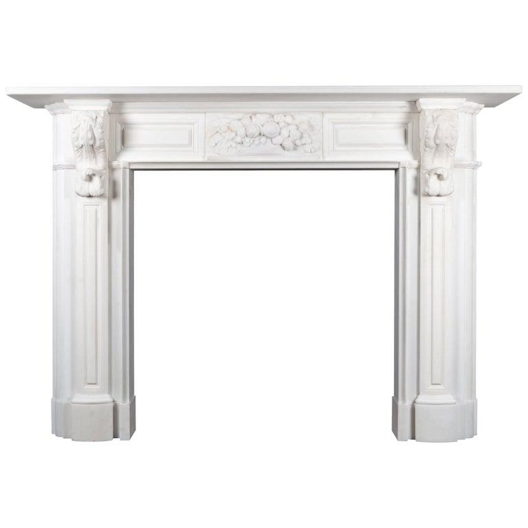 Carved Irish Corbel Fireplace