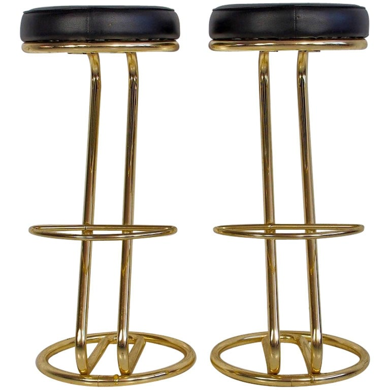 Pair of 1970 Bar Stools For Sale