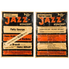 Pair of Original Modern Design Jazz Concerts Posters