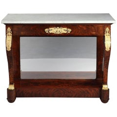 Early 19th Century Mahogany and Gilt Bronze Console