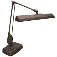 Vintage 1950s Mid-Century Modern Industrial Dazor Floating Articulated Desk Lamp