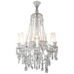 Early 20th Century Eight-Arm Clear Glass Chandelier