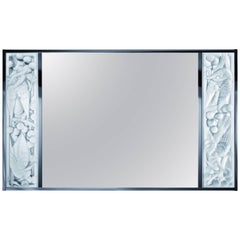 Lalique Clear Crystal Merles et Raisins Wall Mirror