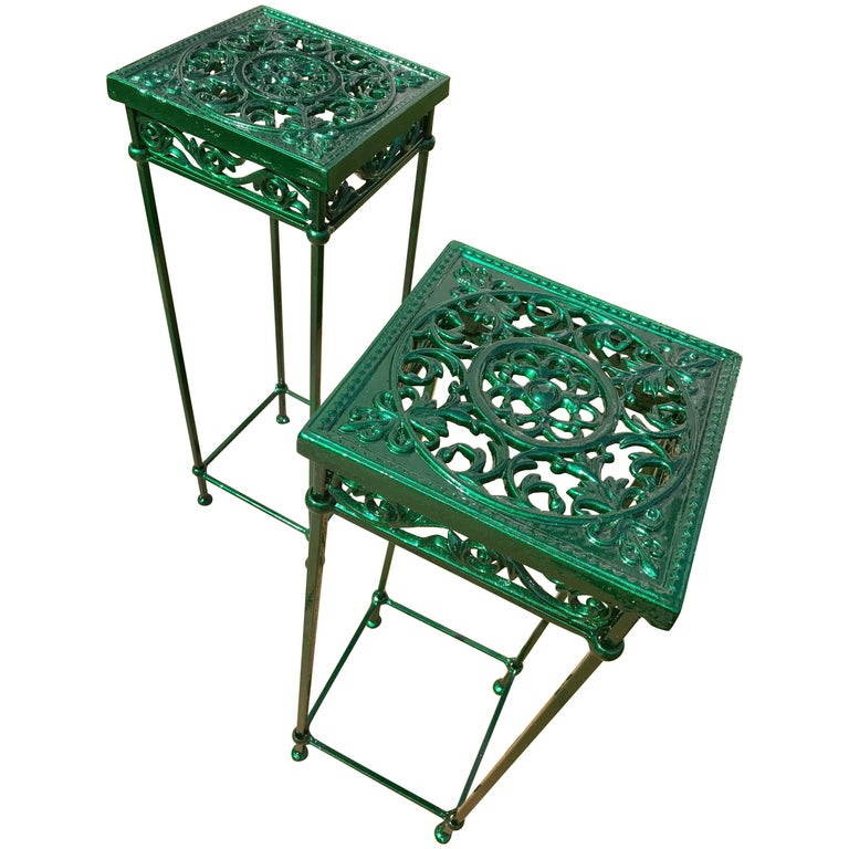 Pair of Cast Iron Plant Stands