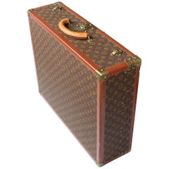 Louis Vuitton Suitcase Leather and Brass