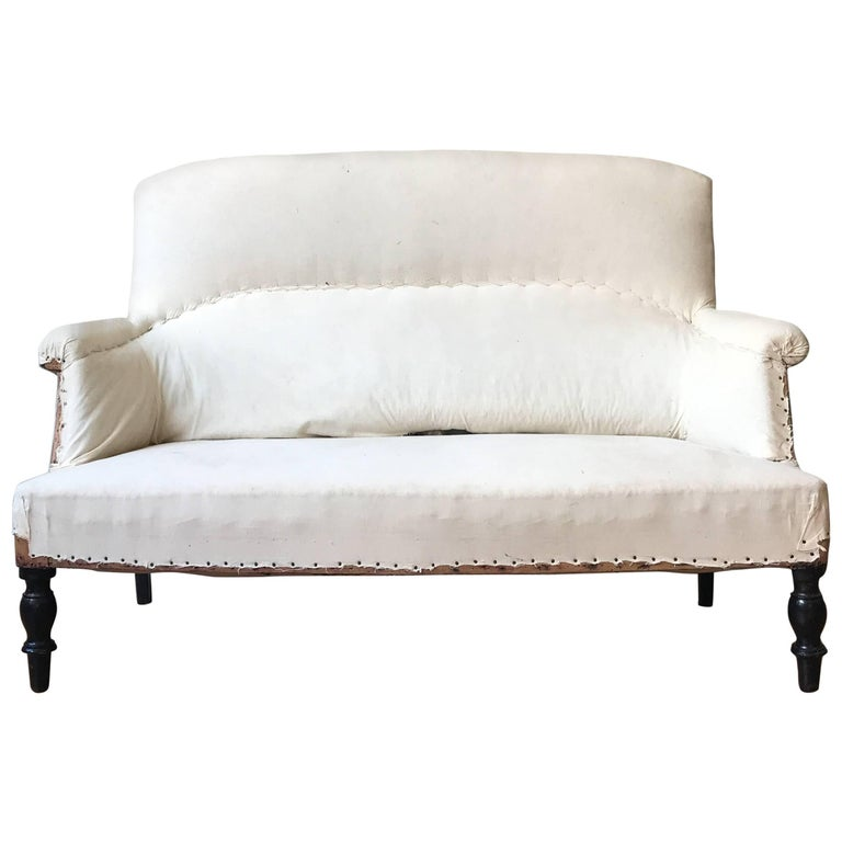 Small French Settee with High Back