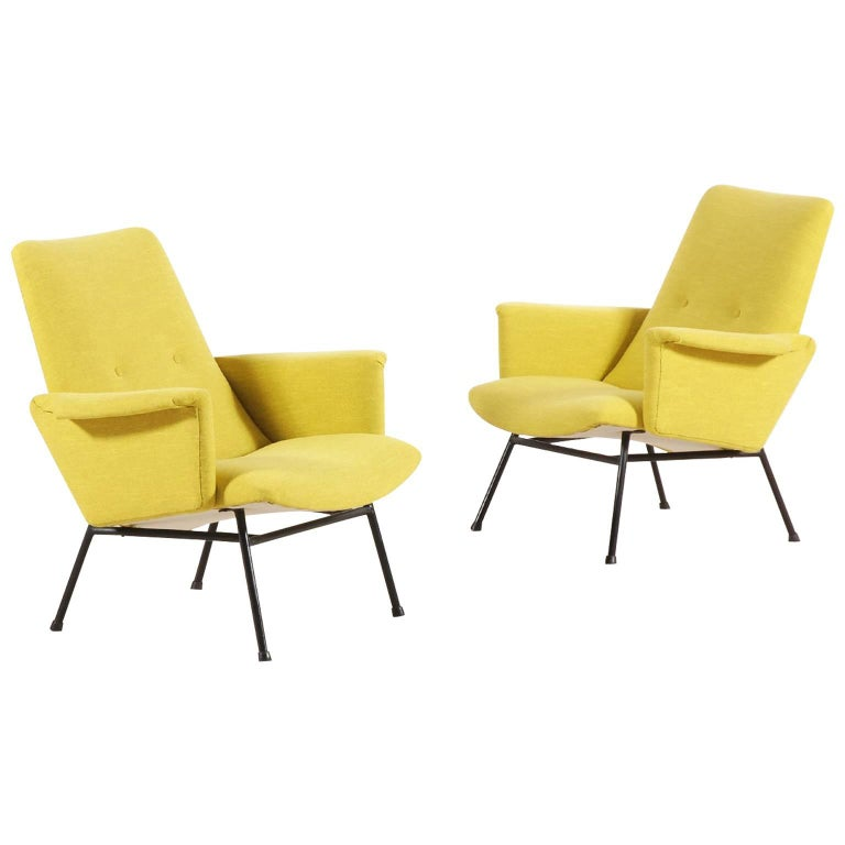 Pair of SK660 Armchairs by Pierre Guariche, 1953