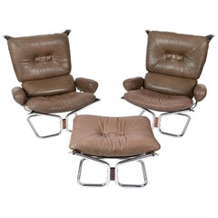 Lounge Chair Suite by Harald Relling, Model Wing for Westnofa