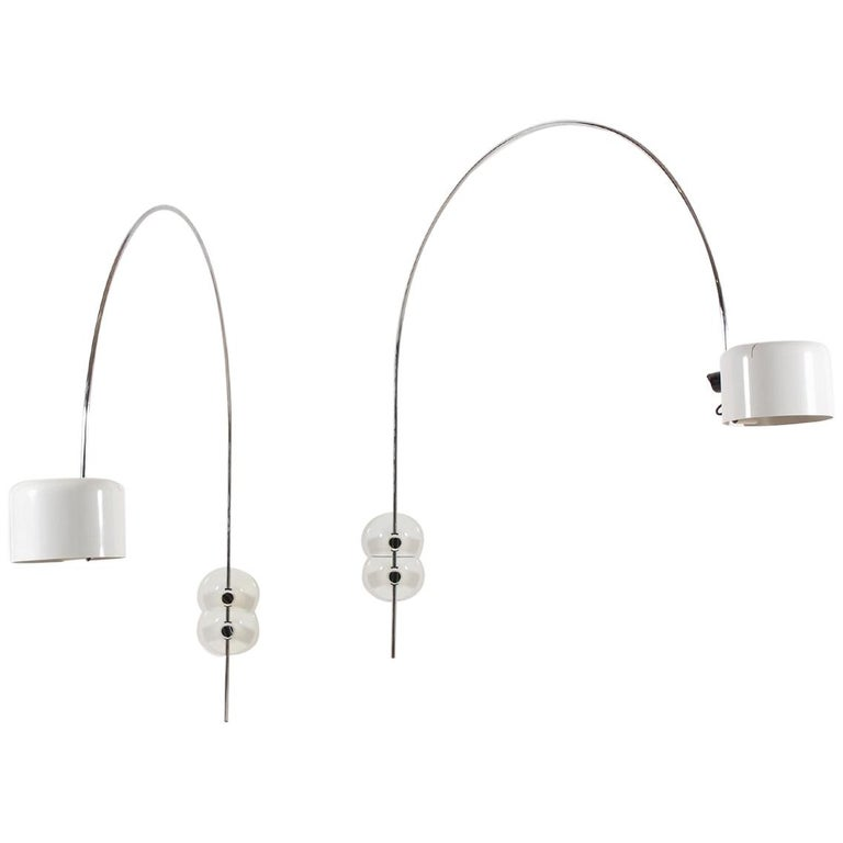 """Pair of """"Coupé"""" Wall-Lights by Joe Colombo, 1967 For Sale"""