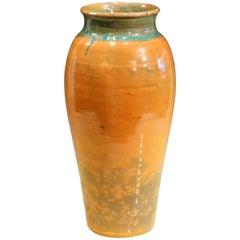 North State Carolina Folk Art Pottery Old Vintage Large Southern Mark Vase