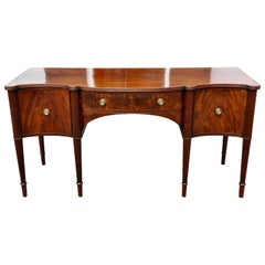 Period George III Cuban Mahogany Bowfront Sideboard of Late 18th Century