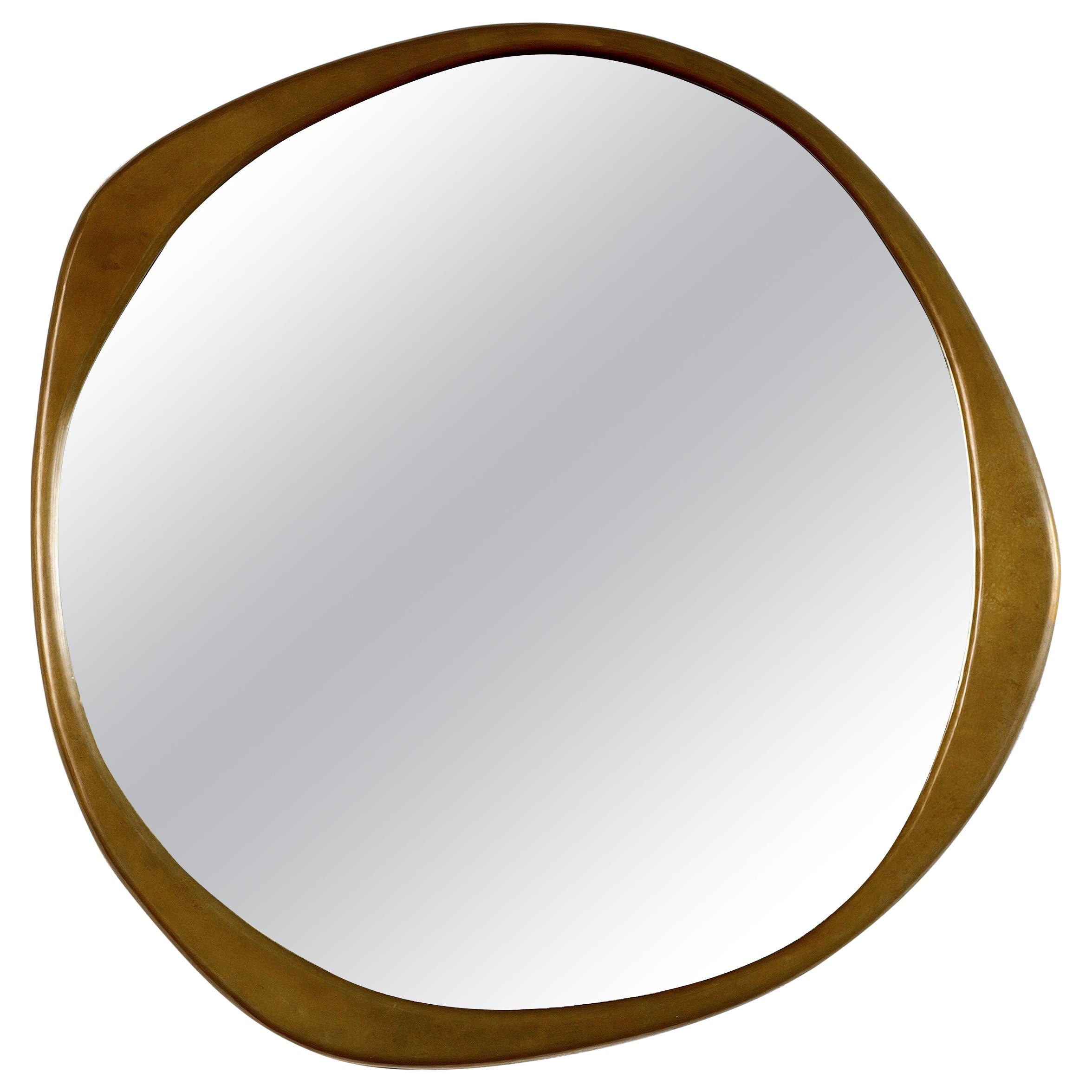 A. Cepa Wall Mirror Large in Hand-Patinated Bronze