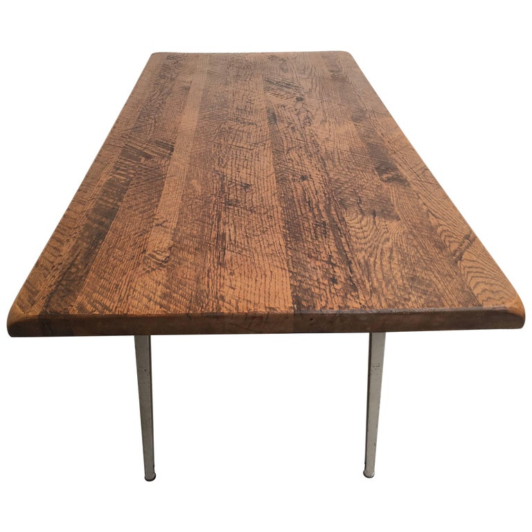 Friso Kramer 'Reform' Table or Desk with Reclaimed Rustic Oak Top 2