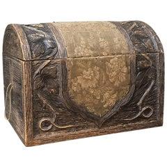 19th Century Black Forest Carved Desktop, Bookcase Box