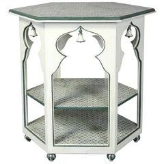 Moorish Inspired Hand-Painted Side Table
