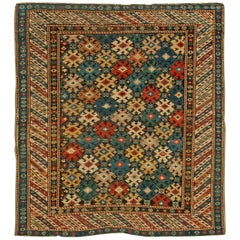 Antique Caucasian Kuba Rug