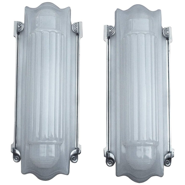 2 PAIR Available! Large Elegant Art Deco Wall Sconces Home Theater