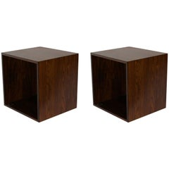 1960 Hovmand-Olsen Pair of Rosewood Wall Mount Cubes