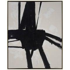 """El Choclo"" Original Black and White Abstract Painting by Karina Gentinetta"