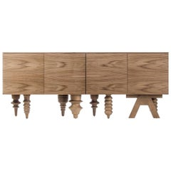 Jaime Hayon Walnut Multileg Cabinet