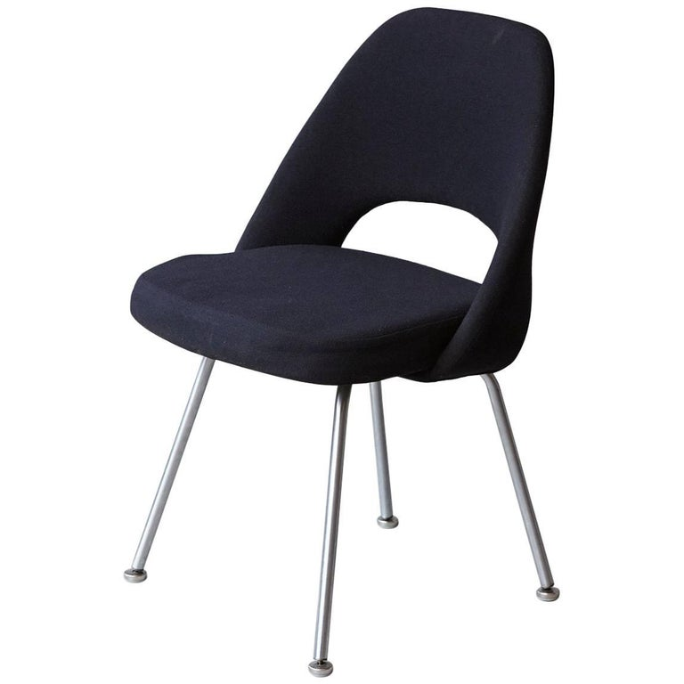 Black Eero Saarinen Series 71 Armless Chair for Knoll International