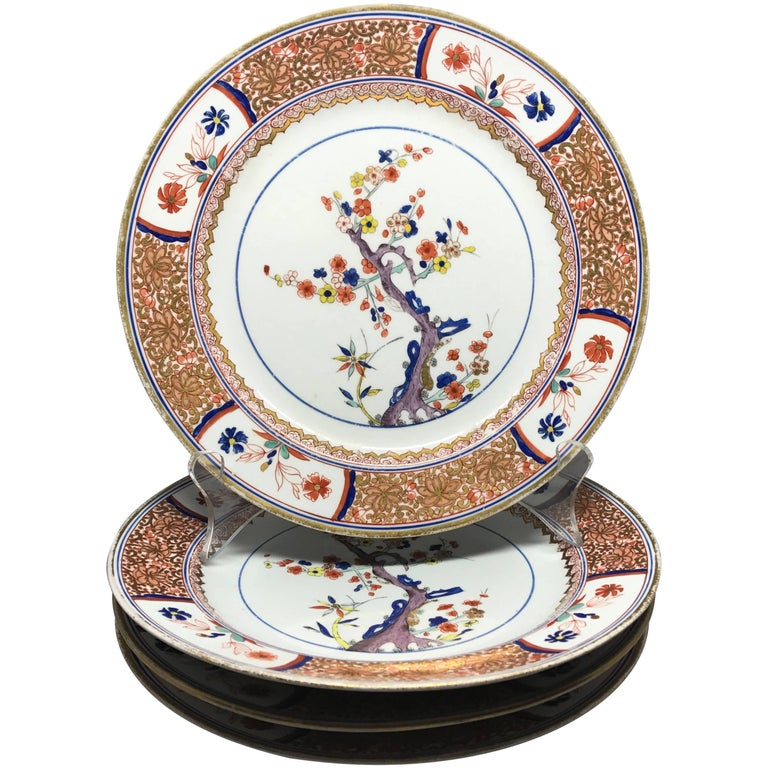 Spode Gilt Painted Tree of Life Plates