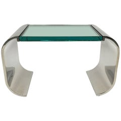 Stanley Jay Friedman for Brueton Stainless Steel and Glass Macao Low Table