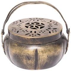 Chinese Gourd Form Brass Brazier