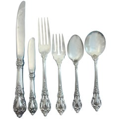Eloquence by Lunt Sterling Silver Flatware Service Set 77 Pieces Dinner Size
