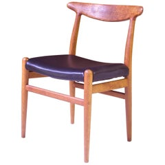 Vintage Hans Wegner for C.M. Madsens 'W2' Chair in Oak; Denmark, 1950s