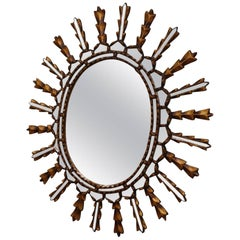 French Mirrored Sunburst Mirror