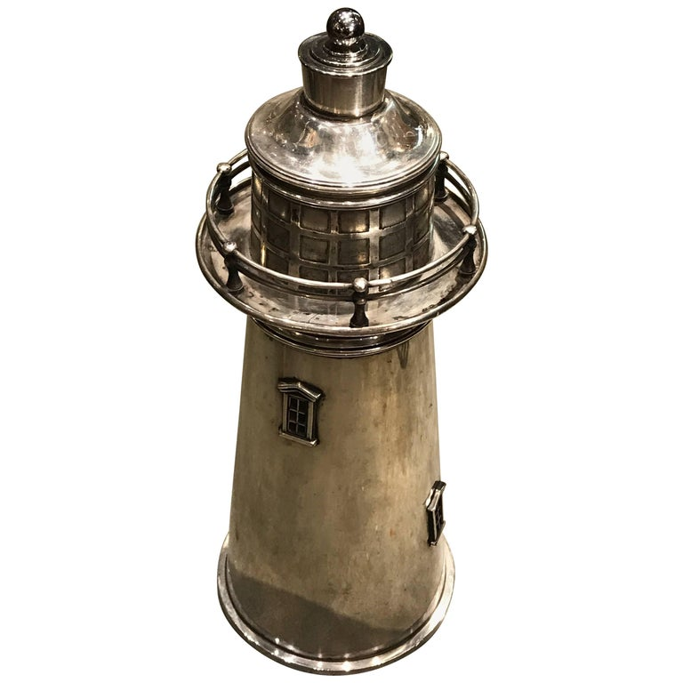 Lighthouse Cocktail Shaker by Meriden International Silver Co 1