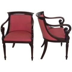 Pair of Biedermeier Bergere Armchairs