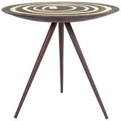 Contemporary 'A. Cepa' Side Table in Ebonized Ash with Brass by Konekt