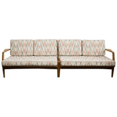 Mid-Century Modern Walnut Sectional Sofa