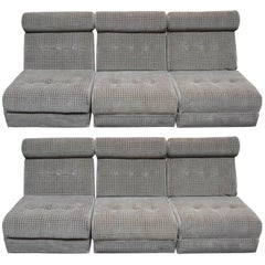 Pair of Mid-Century Modern Daybed Sectional Sofas by Burris Industries