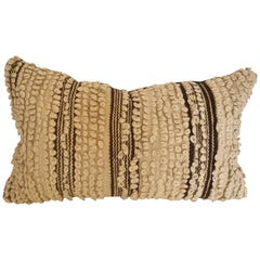 Custom Moroccan Pillow Cut from a Hand Loomed Wool Beni Ouarain Berber Rug