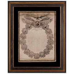 Extremely Early Copy of the Declaration of Independence on Silk, circa 1820-1825