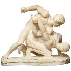 Grand Tour Statuary Marble Sculpture of the Wrestlers