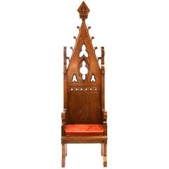 Ornate Gothic Bishop's Chair