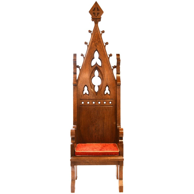 Ornate Gothic Bishop's Chair 1