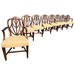 Hepplewhite Mahogany Dining Chairs