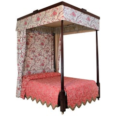 George III Mahogany Four-Poster Bed, Attributed to Gillows of Lancaster