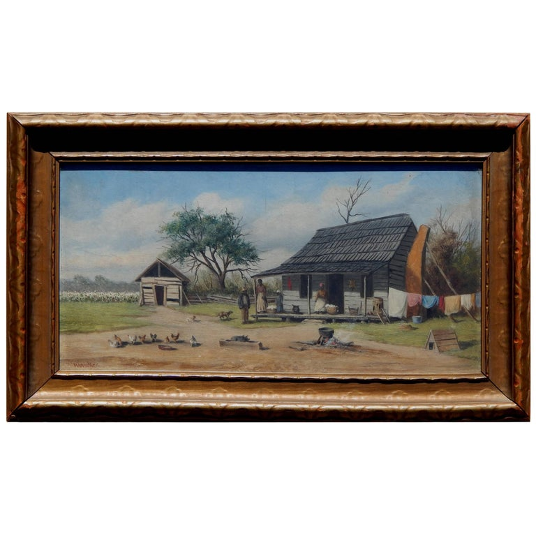 Painter of the American South William Aiken Walker Oil on Board, Sharecroppers